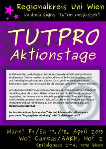 TutPro Aktionstage 2015 - Flyer Vorderseite