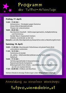 TutPro Aktionstage 2015 - Flyer Rückseite