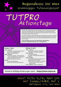 TutPro Aktionstage 2015 - Plakat
